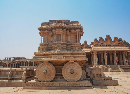 Ancient Ruins and Temples in Hampi, India