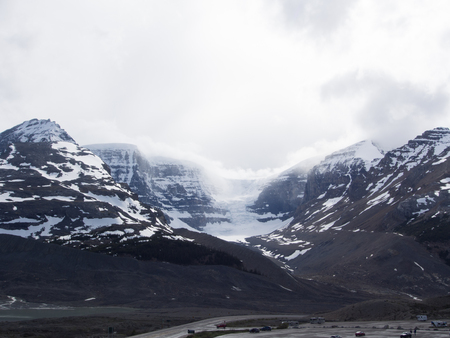 Views on Mountains surrounding Columbia Icefield and Glacier, Canada