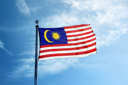 Malaysia flag on the mast