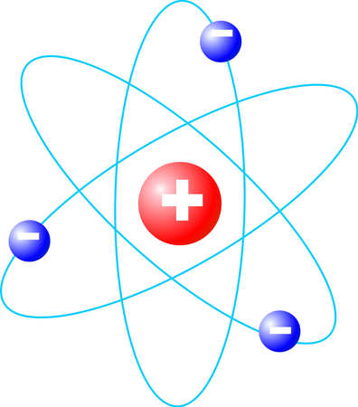 nodal: atom fusion, isolated vector graphic Stock Photo