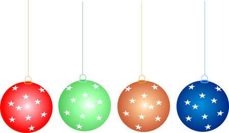 Chrismas decoration - colorful balls inside hall photo
