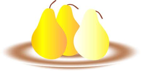 healt: pear have vitamine for good healt Stock Photo