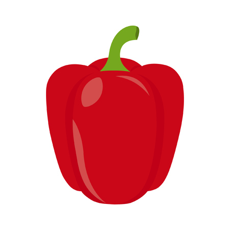 Icon red pepper. Vector illustration.