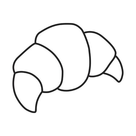 buttery: Line icon croissant. Vector illustration. Illustration