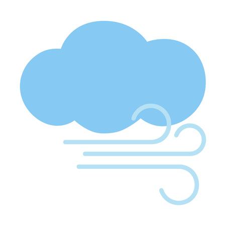 fresh concept: Cloud and wind. Vector illustration. Illustration