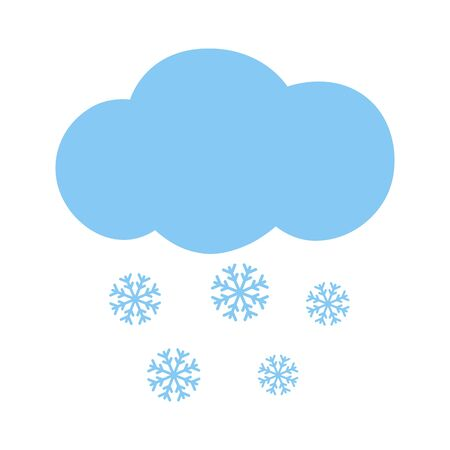 meteorologist: Icon cloud with snowflakes. Vector illustration.
