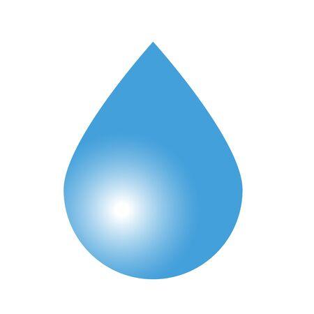 rain drop: Flat icon water drop with shadow. Rain. Vector illustration.