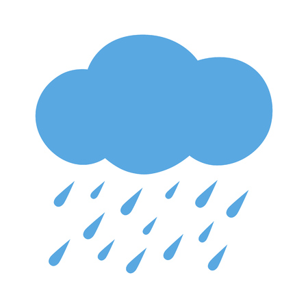 winter season: Flat icon heavy rain. Vector illustration. Illustration