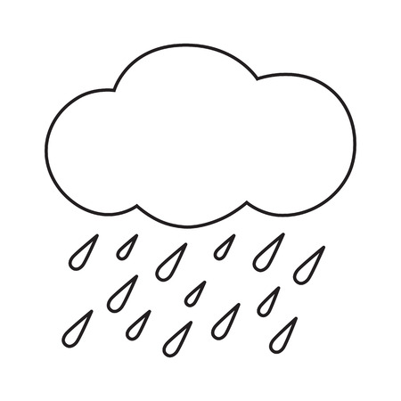 heavy rain: Line icon heavy rain. Vector illustration.