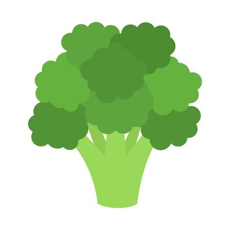 brócoli icono plana. Ilustración del vector. Ilustración de vector