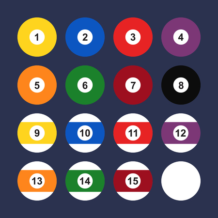 number eleven: Flat icon billiard balls. Pool balls. Vector illustration. Illustration