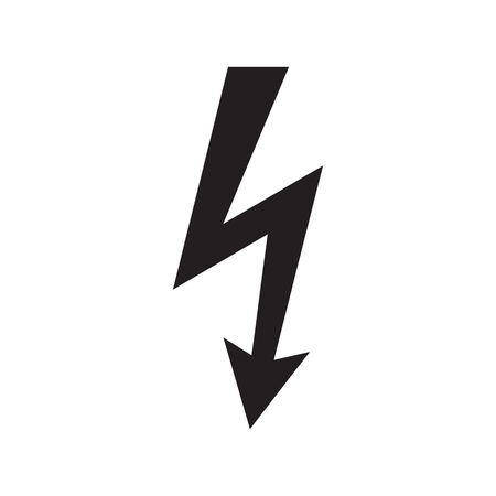 Icon danger high voltage isolated on white background. Vector illustration. Çizim