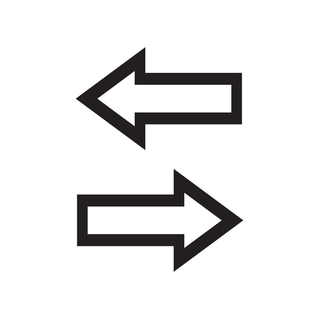 back link: Line arrows left and right. Vector illustration.