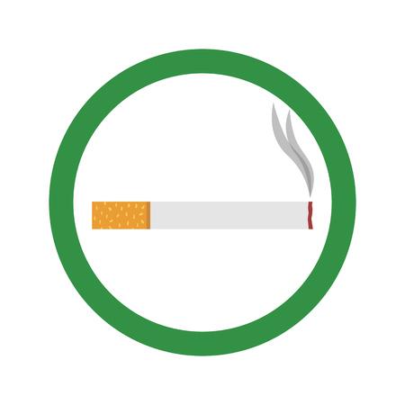 Flat icon cigarette. Smoking area. Vector illustration. Illustration