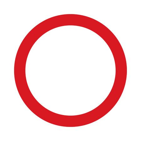 Flache Symbol Verbot des Verkehrs in zwei Richtungen . Verkehrszeichen . Vektor-Illustration