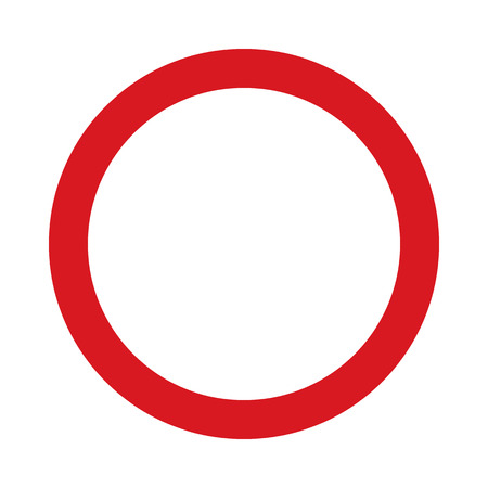 Flat icoon verbod op het verkeer in twee richtingen. Verkeersbord. Vector illustratie.