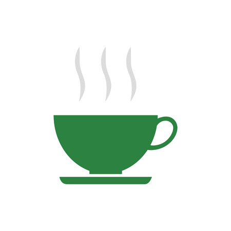 Flat icon cup of coffee. Time for break. Vector illustration. Banco de Imagens - 76041960
