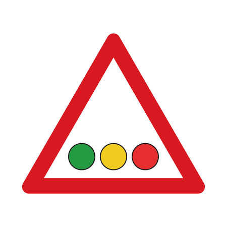Traffic sign confrontation on traffic lights. Vector illustration. Illustration