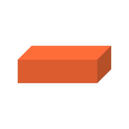 Flat icon brick. Vector illustration. Ilustracja