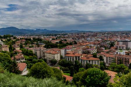 Holiday and Italian summer feeling in Bergamo - Italy / Lombardy