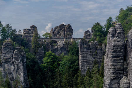Exploration tour through the saxon switzerland on diffenrent places - Saxony / Germany