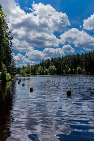 Sunny excursion on a summer day day through the Fichtelgebirge - Bischofsgruen / Germany
