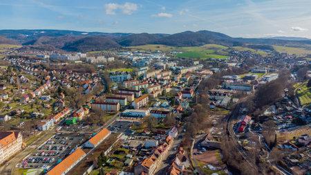 Flyover the beautiful city of Schmalkalden - Thuringia