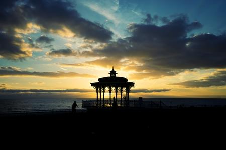 Brighton pavilion sunset photo