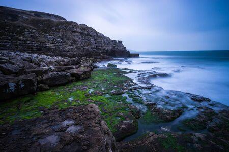 dorset: Misty Dorset coastline