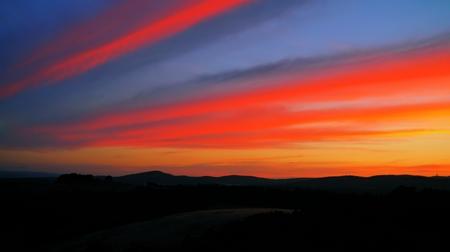 umbria: Italian sunset in Umbria Stock Photo