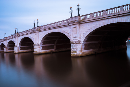 kingston: A close up of Kingston bridge, London