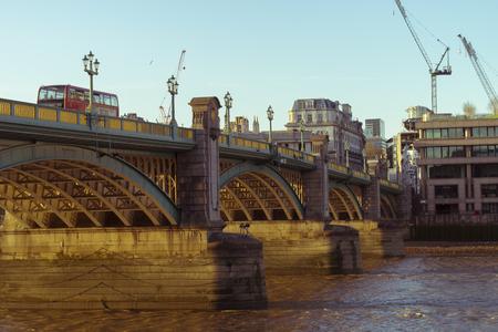 southwark: Southwark bridge on a summer