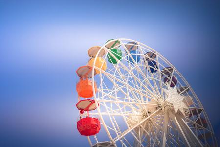 A ferris wheel on top of a hill in Barcelona. Reklamní fotografie