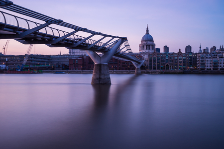 st pauls: Looking across the Thames from Millennium bridge to St Pauls