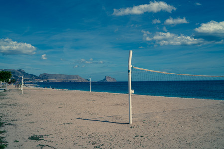 altea: The beach at Altea in Spain in summer.