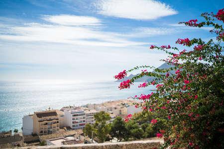 altea: Looking over the coast at Altea in Spain.