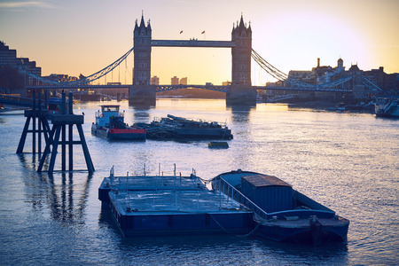 Early morning winter on the London Thames.