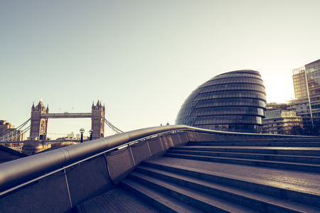 Looking towards tower bridge and city hall from the south. Reklamní fotografie