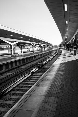 Looking down the platform at London bridge in November. Reklamní fotografie