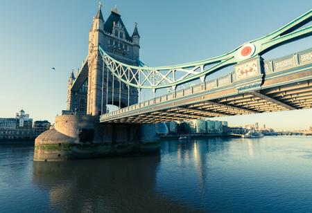 A wide shot of tower bridge from the east side. Reklamní fotografie