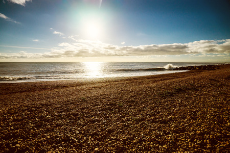 A shot of the beach in Brighton in winter.