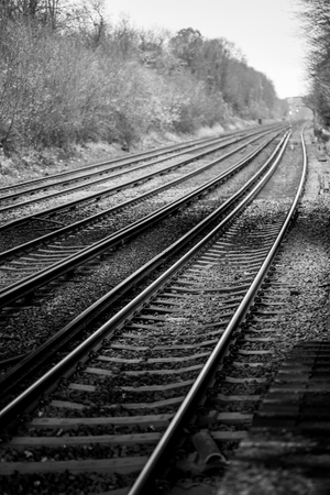 A shot looking down the tracks on Honor Oak.