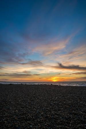 A portrait shot of a Brighton sunrise.