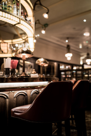 An old bar in a hotel in Budapest.