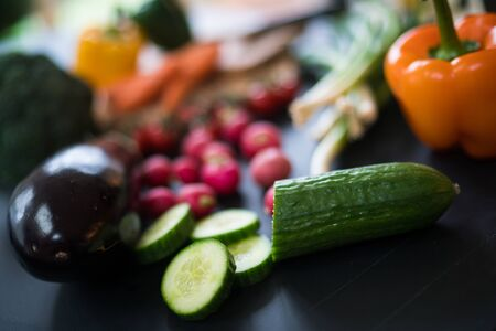 A collection of vegetables shot with shallow depth of field. Reklamní fotografie