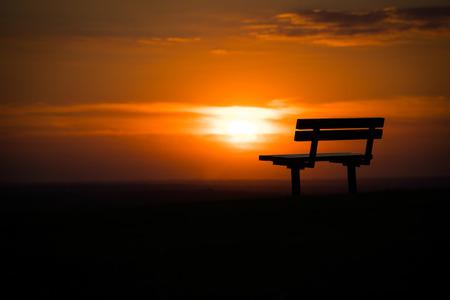 Epsom sunset bench