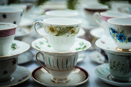Close up of china tea cup with blurred background. Reklamní fotografie