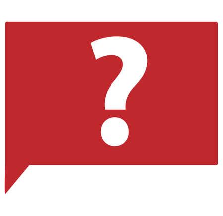 question mark: Blasen-Diskussion Illustration