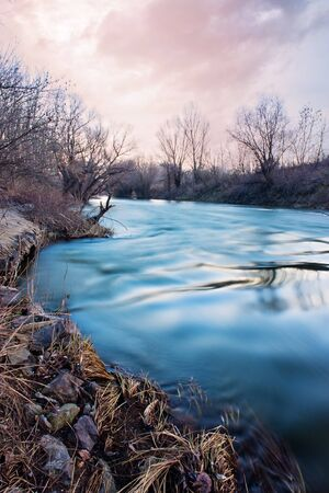 deserted: Long exposure photo of river