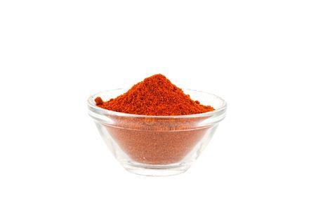 paprika powder in glass bowl photo